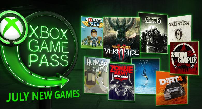 Červencové novinky v Xbox GamePass