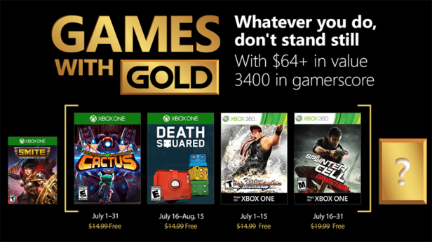 games with gold july 2018