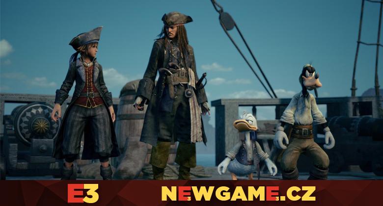 V Kingdom Hearts 3 se podíváme do světa Pirátů zKaribiku