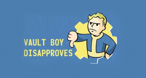 vault boy disapproves