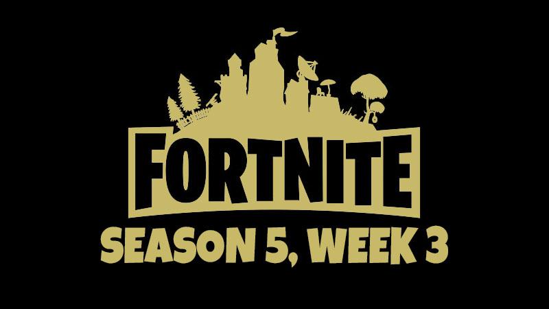 Fortnite souhrn 3. týdne 5. sezóny – Hledáme poklad aholuby