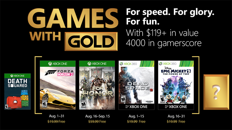 games with gold august 2018