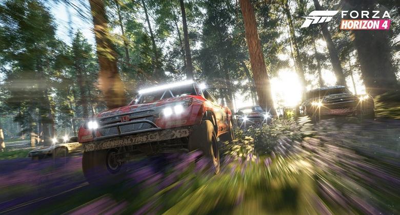 Hodina hraní z Forza Horizon 4 představujejaro