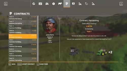 FS19 menu