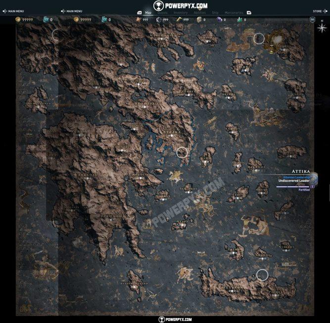 mapa ac odyssey